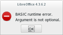 BASIC runtime error. Argument is not optional.